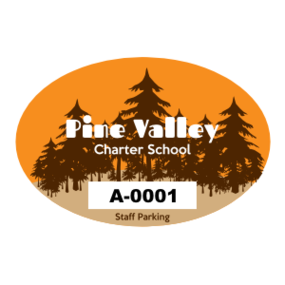 Pine Tree Oval School Parking Permit