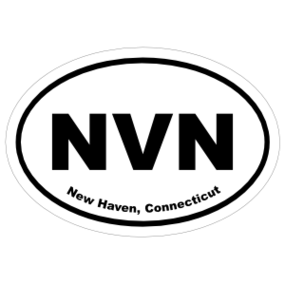 New Haven, Connecticut Oval Stickers