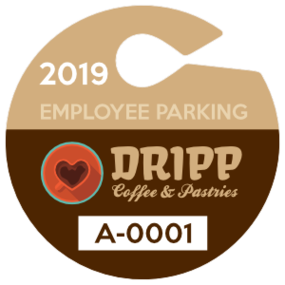 Circle Employee Hang Tag Parking Permit