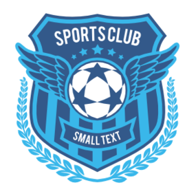 Custom Winged Shield Soccer Sticker
