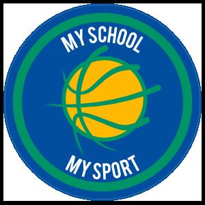 Custom Stylized Basketball Circle Sticker