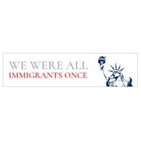 All Immigrants Once Customizable Bumper Stickers
