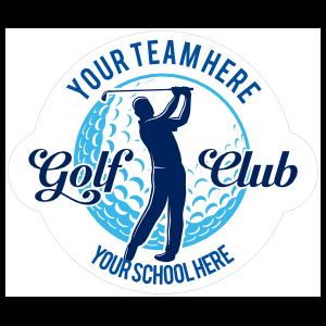 Custom Golf Club Player Swinging Circle Sticker