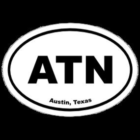 Austin, Texas Oval Stickers