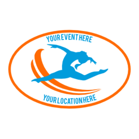 Custom Jumping Gymnastics Oval Sticker
