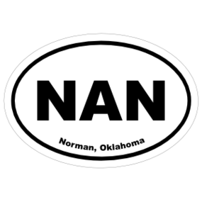 Norman, Oklahoma Oval Stickers