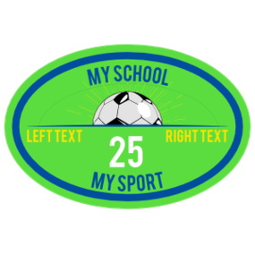 Custom Oval Soccer Burst Sticker