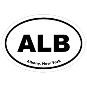 Albany, New York Oval Stickers