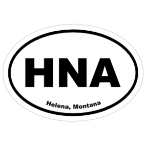 Helena, Montana Oval Stickers