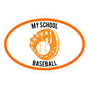 Custom Baseball Mitt Oval Sticker