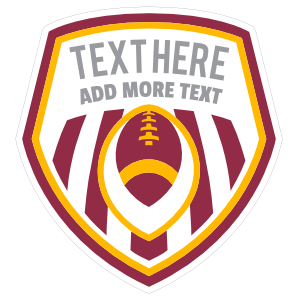 Custom Multi-Color Shield with Stripes and Your Text