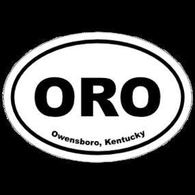 Owensboro, Kentucky Oval Stickers