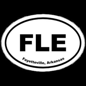 Fayetteville, Arkansas Oval Stickers