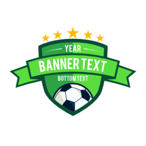Custom Banner Shield Soccer Sticker