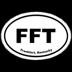 Frankfort, Kentucky Oval Stickers