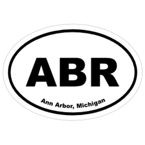 Ann Arbor, Michigan Oval Stickers
