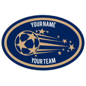Custom Shooting Soccer Ball with Stars Oval Sticker