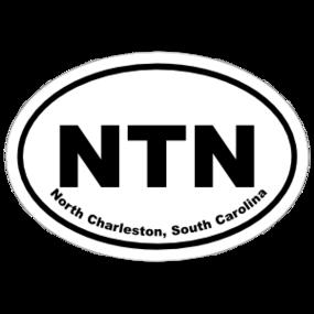 North Charleston, South Carolina Oval Stickers