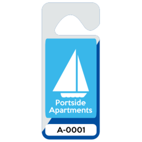 Large Rectangle Apartment Parking Permit Hang Tag
