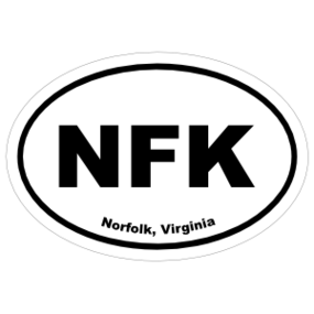 Norfolk, Virginia Oval Stickers