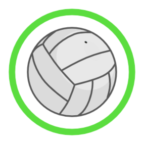 Custom Volleyball Circle Sticker