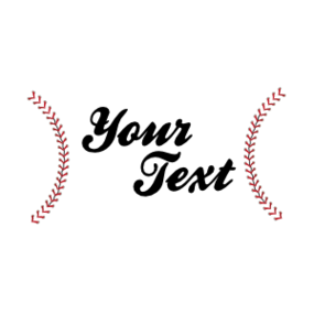 Custom Rectangle Baseball with your Text