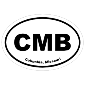 Columbia, Missouri Oval Stickers