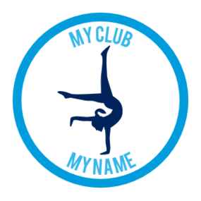 Custom Handstand Gymnast Circle Sticker