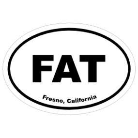 Fresno, California Oval Stickers