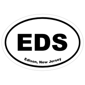 Edison, New Jersey Oval Stickers