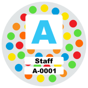 Polka Dot Parking Permit Sticker