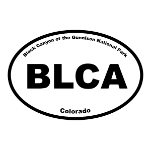 Black Canyon of the Gunnison National Park Oval Sticker