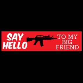 Say Hello Customizable Bumper Sticker
