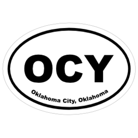 Oklahoma City, Oklahoma Oval Stickers