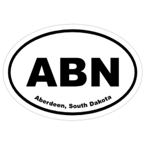 Aberdeen, South Dakota Oval Stickers