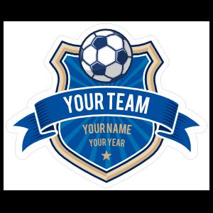 Custom Soccer Badge and Banner Sticker