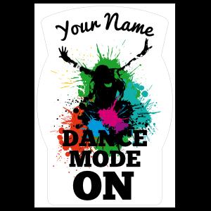 Custom Splashed with Color Dance Mode Sticker