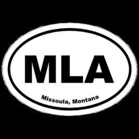 Missoula, Montana Oval Stickers