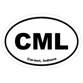 Carmel, Indiana Oval Stickers