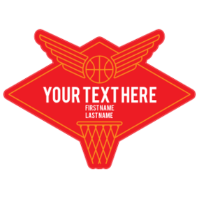 Custom Retro Wing Basketball Diamond Sticker