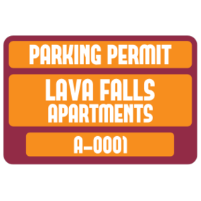 Parking Permit Rectangle 4