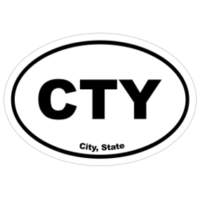 Custom City Oval Stickers
