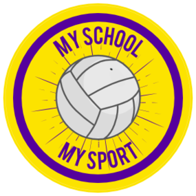 Custom Volleyball Circle Burst Sticker