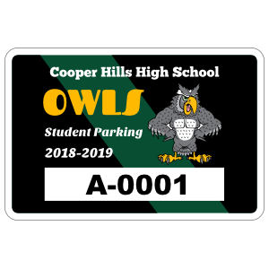 Diagonal Stripe Rectangle Parking Permit Sticker