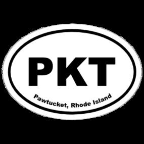 Pawtucket, Rhode Island Oval Stickers