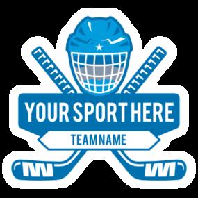 Custom Helmet and Stick Ice Hockey Sticker