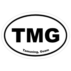 Tamuning, Guam Oval Stickers