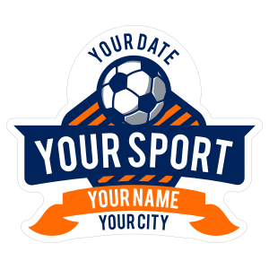 Custom Die-Cut Soccer Banner Sticker