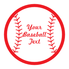 Custom Baseball sticker with Seams and Text