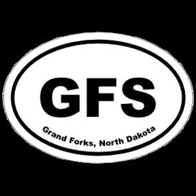 Grand Forks, North Dakota Oval Stickers